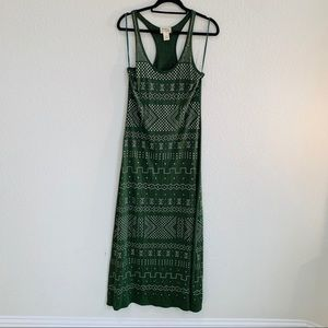 Torn by Ronny kobo dress maxi green studded straps